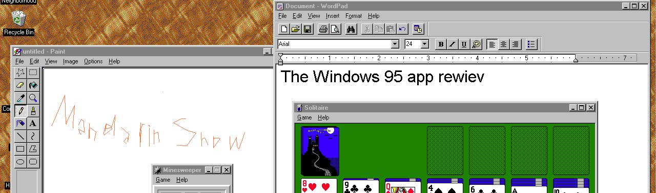 Энтузиаст превратил Windows 95 в обычное приложение